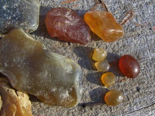Naturally polished Fraser River gems.