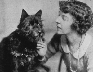 Mazo de la Roche and her beloved Scottie, Bunty