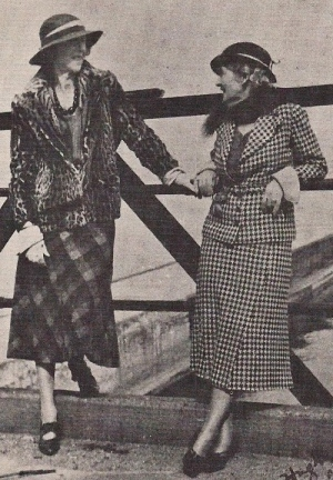 Mazo de la Roche and Caroline Clement, 1930s