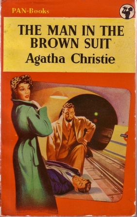 The illustrator did a good job with the mysterious brown-suited man, but bobbled (yet again!) on the heroine's hair colour.