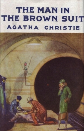 An early edition dustjacket, showing the incident which starts Anne on her merry way. Glaring error: Anne has black hair in the narrative; she looks pretty fair in this picture!