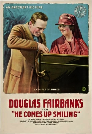 he comes up smiling 1918 movie poster