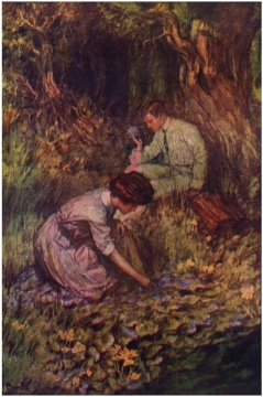 Benda's illustration of Elnora and Phillip girl of the limberlost gene stratton-porter