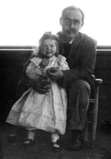 "Rudyard Kipling and his eldest daughter (his ""Best Beloved"" first child) Josephine, at the time of the writing of the first of the Just So stories."