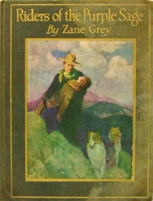 riders purple sage zane grey old illustrated cover