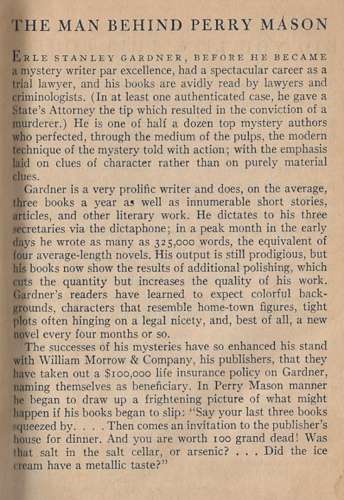 case of the shoplifter's shoe author bio erle stanley gardner 001