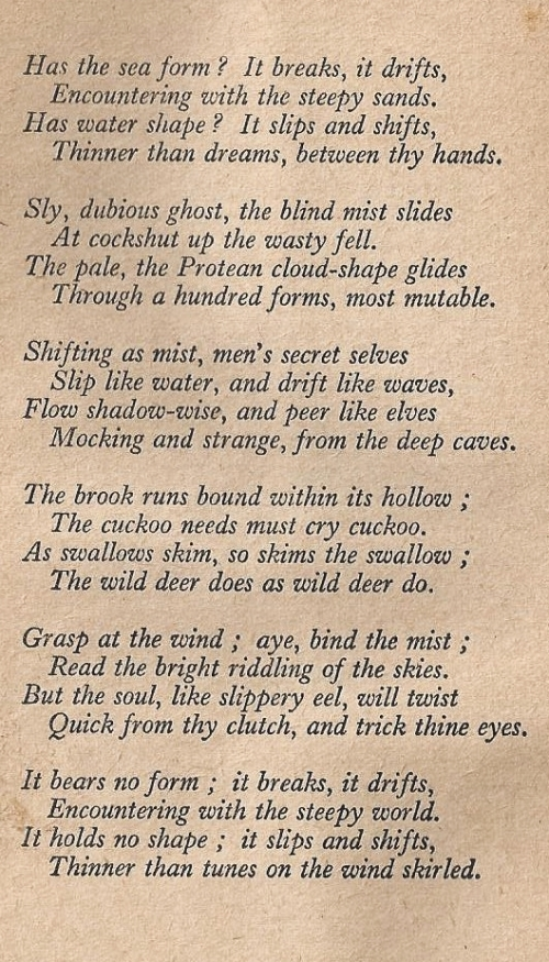 Un-credited poem, one would then assume to be by Rose Macaulay herself, on frontispiece page.