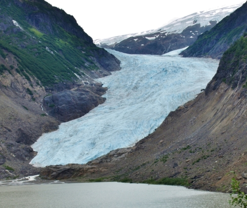 Bear Glacier, near the Canada-U.S.A. border towns of Stewart, B.C. and Hyder, Alaska