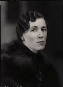 Georgette Heyer, photographed for the National Portrait Gallery in 1939 by Howard Coster. Looking sternly unamused, as was her wont when confronted by a camera.