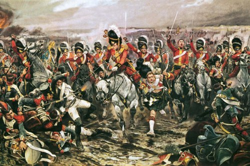 The Charge of the Scots Greys at Waterloo by Richard Caton Woodville